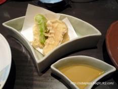 24.手打ち蕎麦 銀杏 (秋野菜と生湯葉の天ぷら)