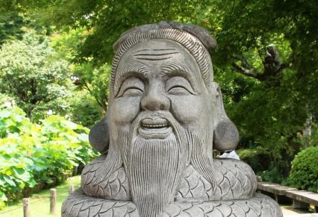 三室戸寺・宇賀神像_H26.07.15撮影