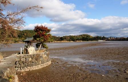鯉揚げの広沢池_H26.12.07撮影