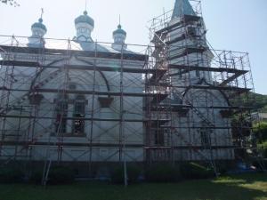 工事中のハリストス正教会