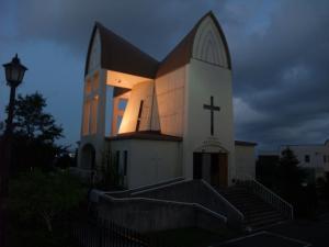 ライトアップ聖ヨハネ教会