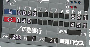 10.5.1 4回被安打9・・・