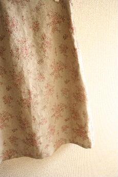 花柄リネンのスカート