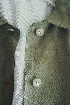 リネン ステンカラーコート