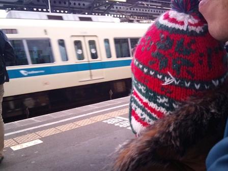 電車だね!