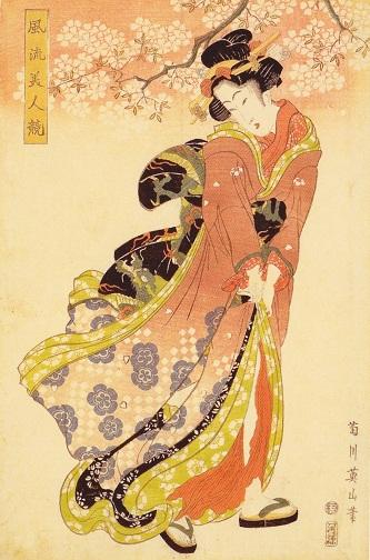 菊川英山画 風流美人競桜