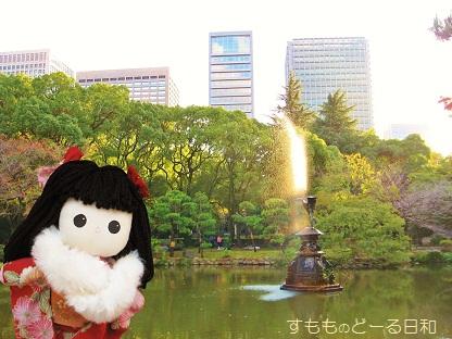 鶴の噴水ですよ
