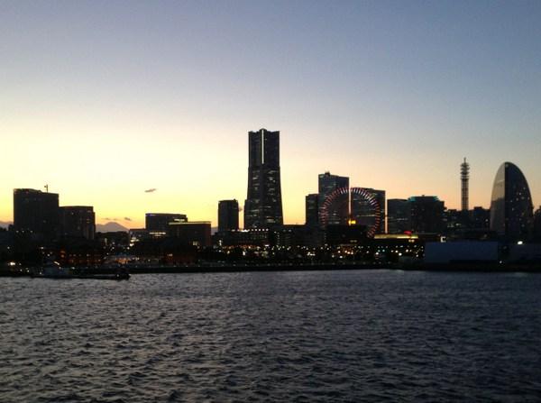 大桟橋からの夕景