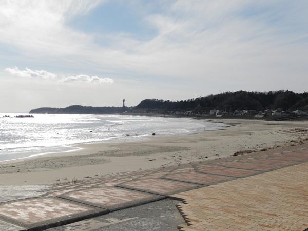 海岸線のコース沿いの風景