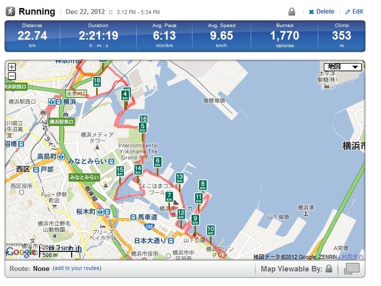 横浜ベイエリア・ランニングルート
