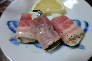 鱈のベーコン巻き