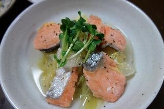 塩鮭と白菜1211
