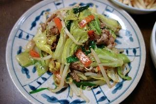 野菜炒め1227