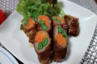 野菜の肉巻き0122