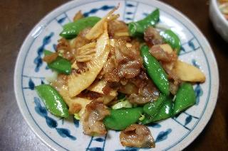 豚バラと筍のオイスターソース炒め