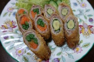 野菜肉巻きフライ0306