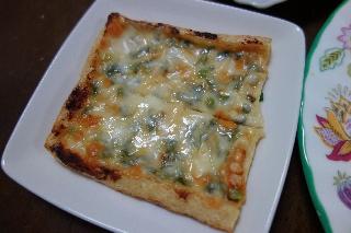 油揚げの味噌チーズ焼き