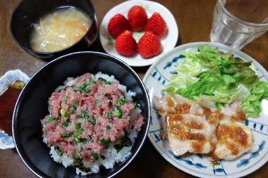ネギトロ丼130327
