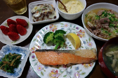 夕飯130402