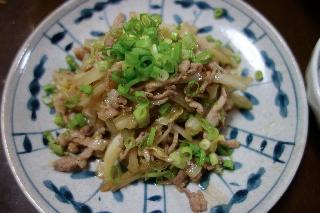 豚肉と白菜のオイスターソース炒め0410