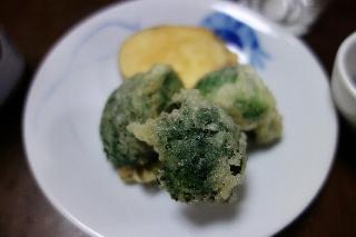 ブロッコリーの天ぷら0422
