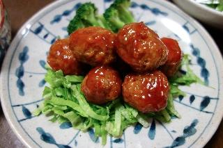 肉だんごの甘酢あん0419