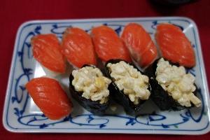 サーモン寿司0701