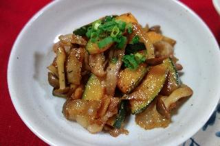 かぼちゃと豚肉の炒め物0709