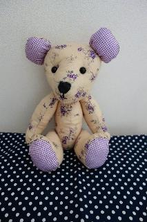 テディベア娘紫
