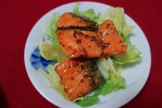鮭のマーマレード焼き
