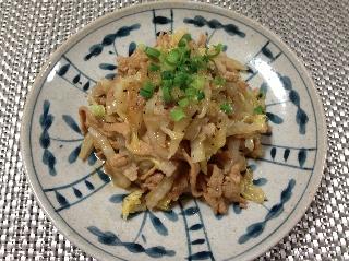 豚肉と白菜のオイスターソース炒め0221