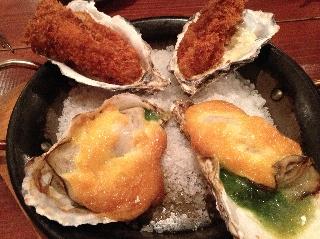 牡蠣のグラタン&フライ