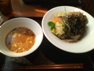 黒酢だれのつけ蕎麦@kurkku3