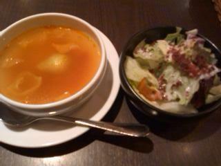 サラダとスープ@Cobara Hetta