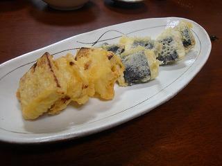 100227山芋磯辺揚げ&酒かすチーズ