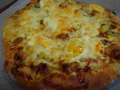 100505照り焼きチキンピザ