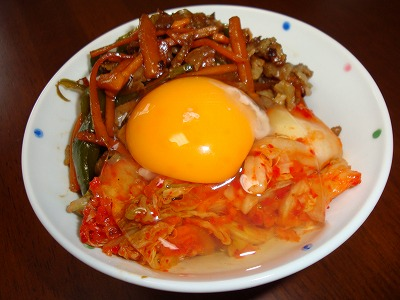 100527野菜炒め丼