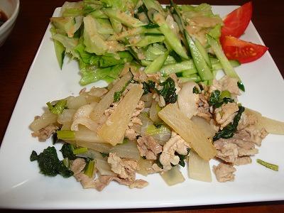 100616豚肉と大根の炒め物