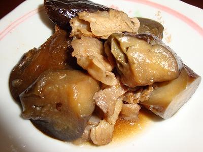 100701ナスと豚肉の炒め煮