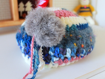 変わり糸帽 (2)