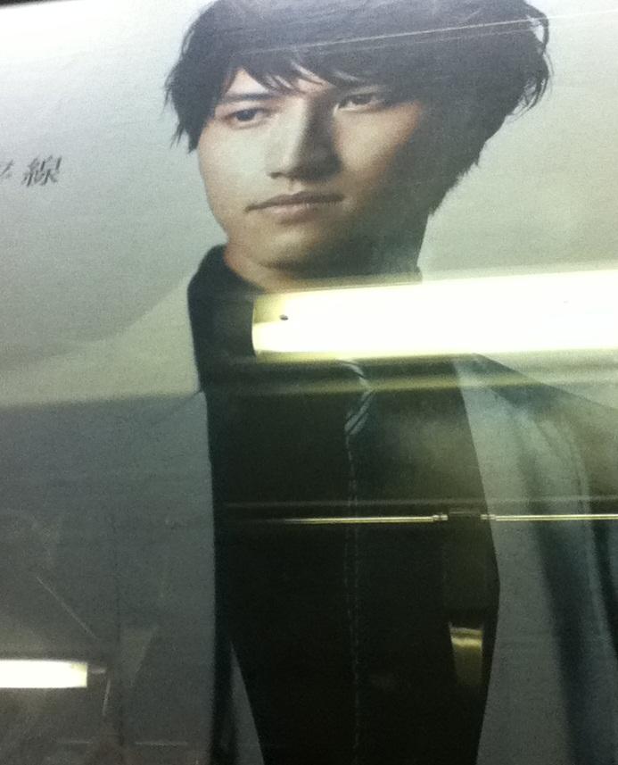 電車の中から看板