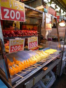 上野のフルーツ串
