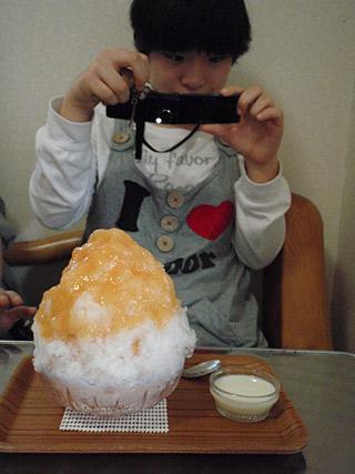10 11/21 かき氷 桃&アプリコット