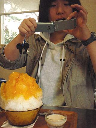 10 11/21 かき氷 ミルク杏仁マンゴー