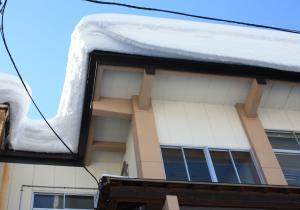 12/28屋根に積もった雪