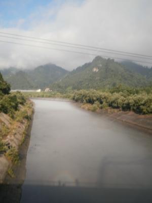 旅行村前の橋にて