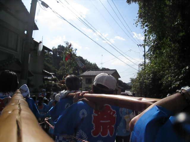 20111016 田中山神社秋祭り みこし視点(鯛の迫町内会)