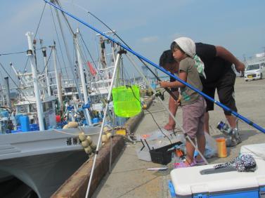大洗港にて釣り