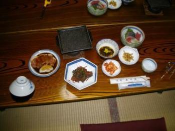 上の湯 夕食2