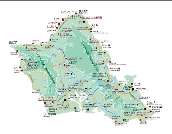 オアウ島地図